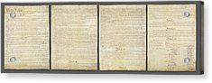 United States Constitution, Usa Acrylic Print