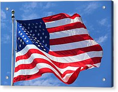 Acrylic Print featuring the photograph United States Flag by Elizabeth Budd