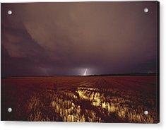 United States, Kansas, Lightning Acrylic Print by Keenpress