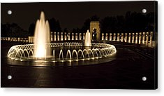 United States National World War II Memorial In Washington Dc Acrylic Print by Brendan Reals