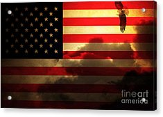 United States Of America . Land Of The Free Acrylic Print by Wingsdomain Art and Photography