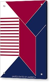 United States Of America IIi - Text Acrylic Print by Asbjorn Lonvig