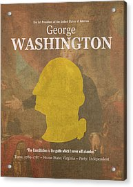 United States Of America President George Washington Facts And Portrait Poster Series Number 1 Acrylic Print