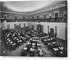 United States Senate Acrylic Print by Underwood Archives