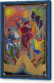 Unity On The Golden Path Acrylic Print by Chana Helen Rosenberg