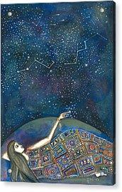 Acrylic Print featuring the mixed media Universal Magic by Prerna Poojara