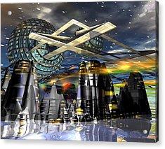 Universal World Acrylic Print by Mason BenYair