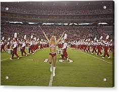 University Of Alabamas Marching Band Acrylic Print by Everett