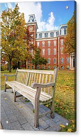 University Of Arkansas Campus In Fall - Old Main Building Acrylic Print