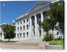 University Of California At Berkeley Sproul Plaza And Sather Tower Campanile Dsc6253 Acrylic Print