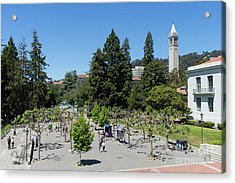 University Of California At Berkeley Sproul Plaza Sather Gate And Sather Tower Campanile Dsc6256 Acrylic Print
