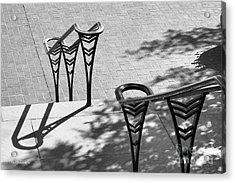 University Of Cincinnati Railings Acrylic Print by University Icons