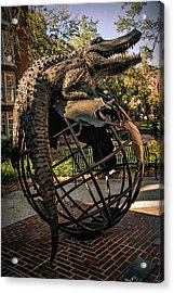 Acrylic Print featuring the photograph University Of Florida Sculpture by Joan Carroll