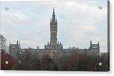 University Of Glasgow At Sunrise - Panorama Acrylic Print