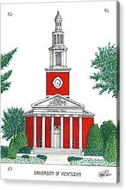 University Of Kentucky Acrylic Print by Frederic Kohli