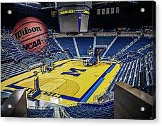 Acrylic Print featuring the digital art University Of Michigan Basketball by Nicholas Grunas