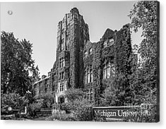 University Of Michigan Michigan Union Acrylic Print by University Icons