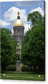 University Of Notre Dame Golden Dome Acrylic Print