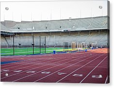 University Of Penn Franklin Field Track Acrylic Print by Bill Cannon