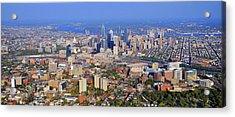 University Of Pennsylvania And Philadelphia Skyline Acrylic Print by Duncan Pearson
