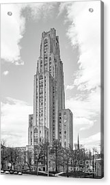 University Of Pittsburgh Cathedral Of Learning Acrylic Print by University Icons