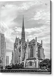 University Of Pittsburgh Heinz Memorial Chapel Acrylic Print by University Icons