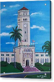 University Of Puerto Rico Tower Acrylic Print by Luis F Rodriguez