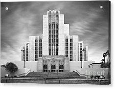 University Of Southern California University Hospital Acrylic Print by University Icons