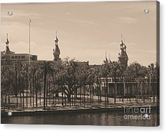 University Of Tampa With Old World Framing Acrylic Print by Carol Groenen