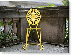 University Of Wisconsin Madison Terrace Chair Color Acrylic Print by University Icons