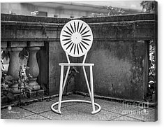 University Of Wisconsin Madison Terrace Chair Acrylic Print by University Icons