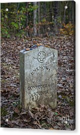 Unknown Confederate Soldier - Natchez Trace Acrylic Print