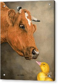 Friends Come In All Sizes Acrylic Print by Sarah Batalka