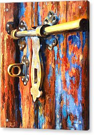 Unlocked Acrylic Print by Denise H Cooperman