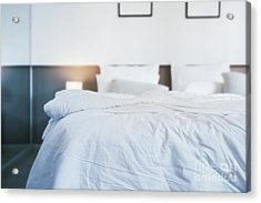 Unmade Bed Acrylic Print