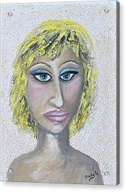 Unnatural Blonde Acrylic Print