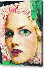 Unsettling Gaze Acrylic Print by Sarah Loft