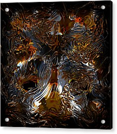 Acrylic Print featuring the digital art Unsong by Vadim Epstein