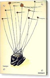 Unsuccessful Attempt To Raise High Flights Acrylic Print by Paulo Zerbato