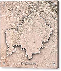 Unterfranken Regierungsbezirk Bayern 3d Render Topographic Map N Acrylic Print