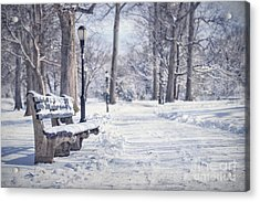 Until It Melts Away Acrylic Print by Evelina Kremsdorf
