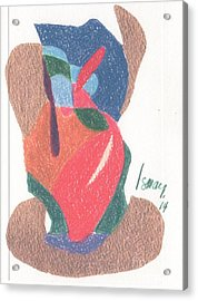Acrylic Print featuring the drawing Untitled Abstract by Rod Ismay
