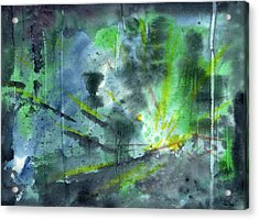 Untitled Abstract Watercolor Acrylic Print by Sean Seal