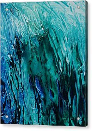 Untitled Blue Acrylic Print by Larry Ney  II