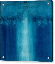 Untitled Blue Painting Acrylic Print by Charlie Millar