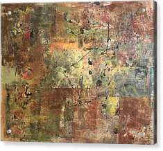 Untitled Clay Monotype Acrylic Print by William Renzulli