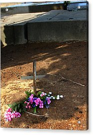 Untitled Grave Acrylic Print by Peter Piatt