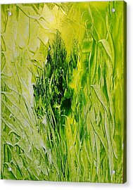 Untitled Green Acrylic Print by Larry Ney  II