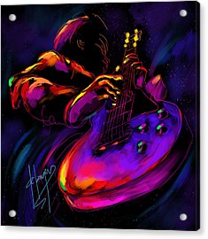 Untitled Guitar Art Acrylic Print by DC Langer