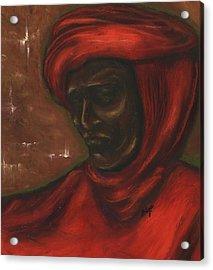 Acrylic Print featuring the pastel Untitled Man by Alga Washington